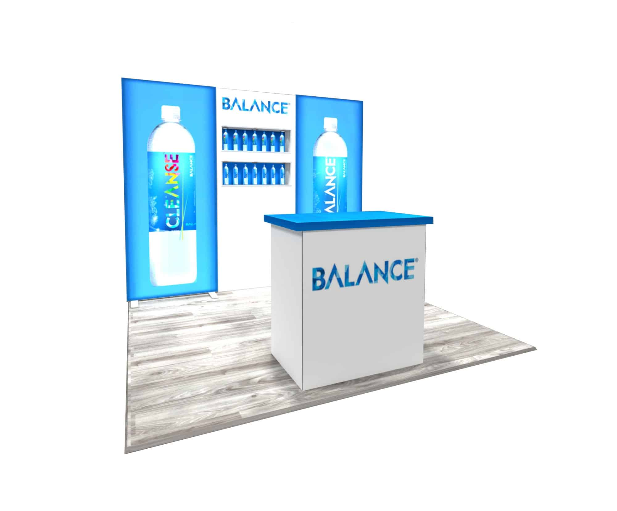 Balance  10x10 Trade Show Booth  Booth Design Ideas