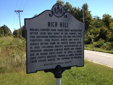 Rich Hill Historic Marker