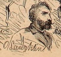 Sketch of O'Laughlen from Harper's Weekly