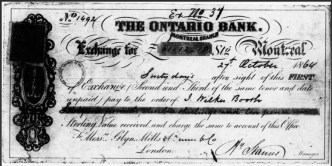 Booth's Bill of Exchange 1