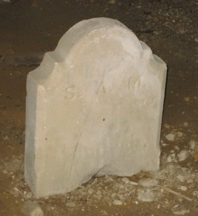 Former Mudd foot stone