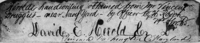 Herold's Signature