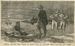 John Surratt escaping by boat