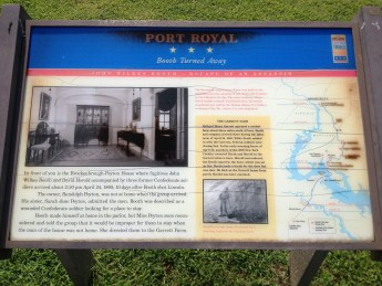 Port Royal Civil War Trails Sign