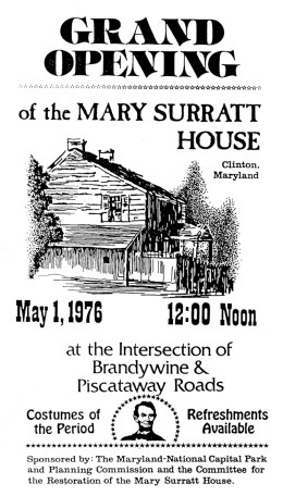 Opening of the Surratt House