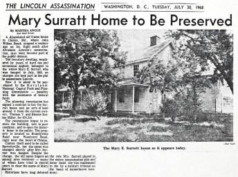 Restoration article Surratt House