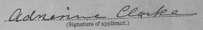 Adrienne Clarke Signature