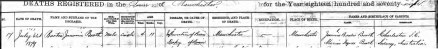 Barton J Booth Death Record