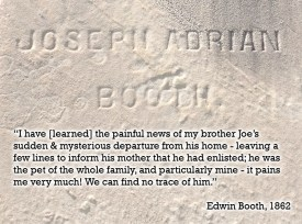 Edwin on his brother Joe's disappearance