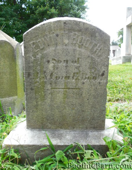 Edwin T Booth's grave Greenmount