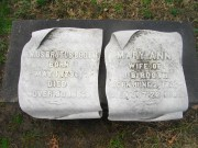 Junius and Mary Ann Headstones