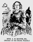 Mary Ann Holmes Booth Baltimore American 7-12-1896