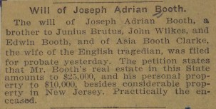 Will of Joseph Booth 4-25-1902