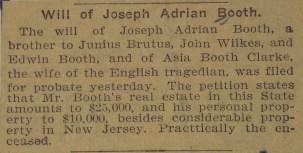 Will of Joseph Booth 4-25-1902