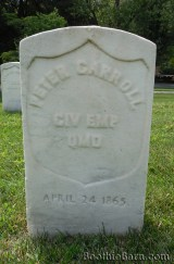 Peter Carroll Black Diamond grave