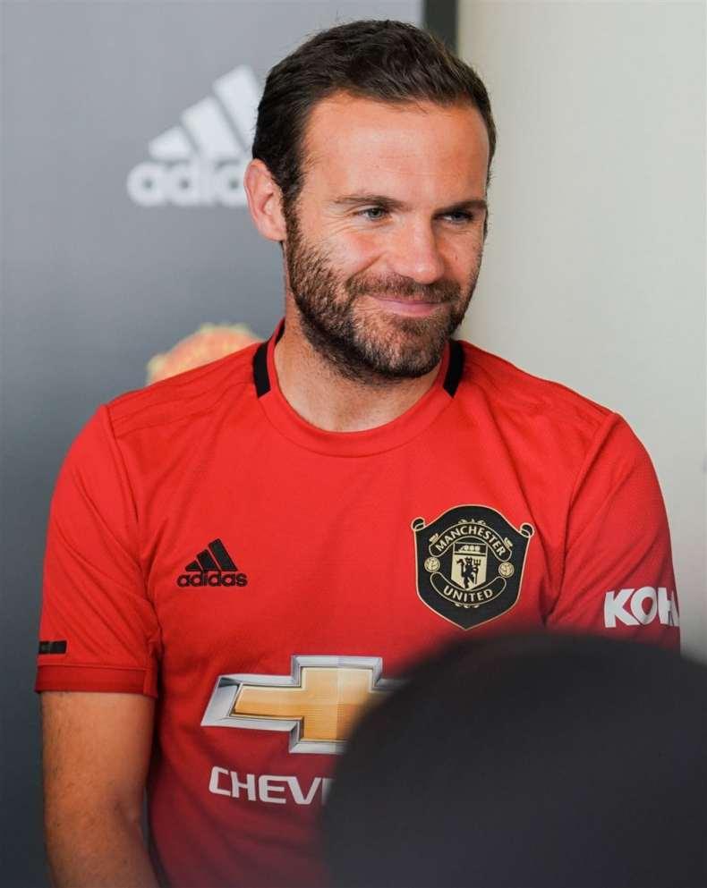 Juan Mata at the adidas Manchester United event