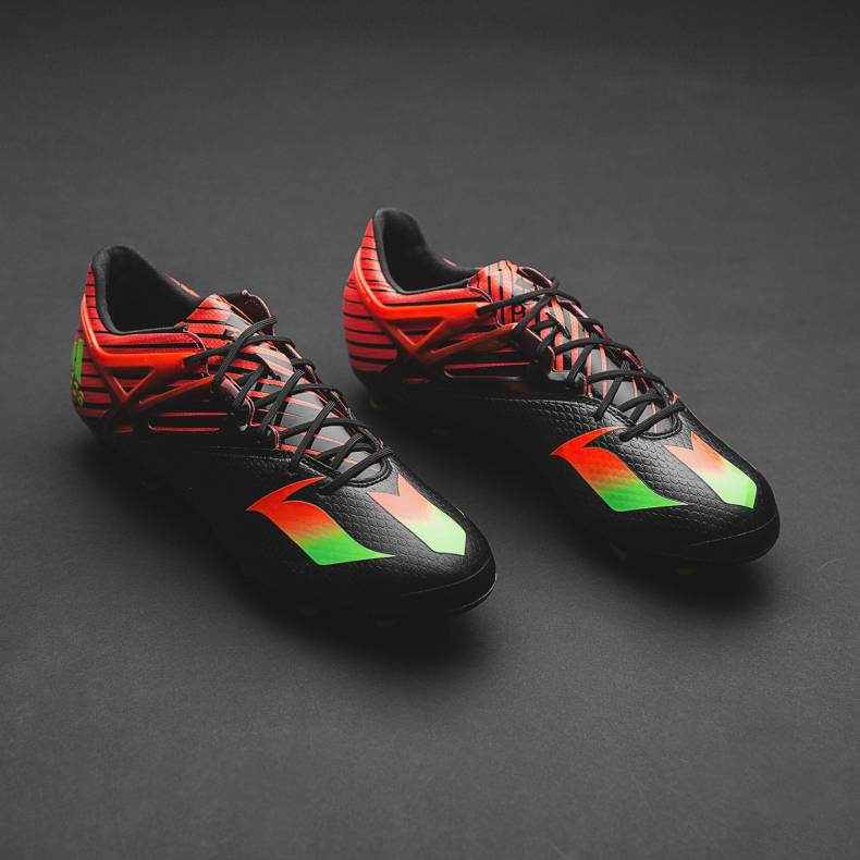 football boots - adidas messi 15.1 black red