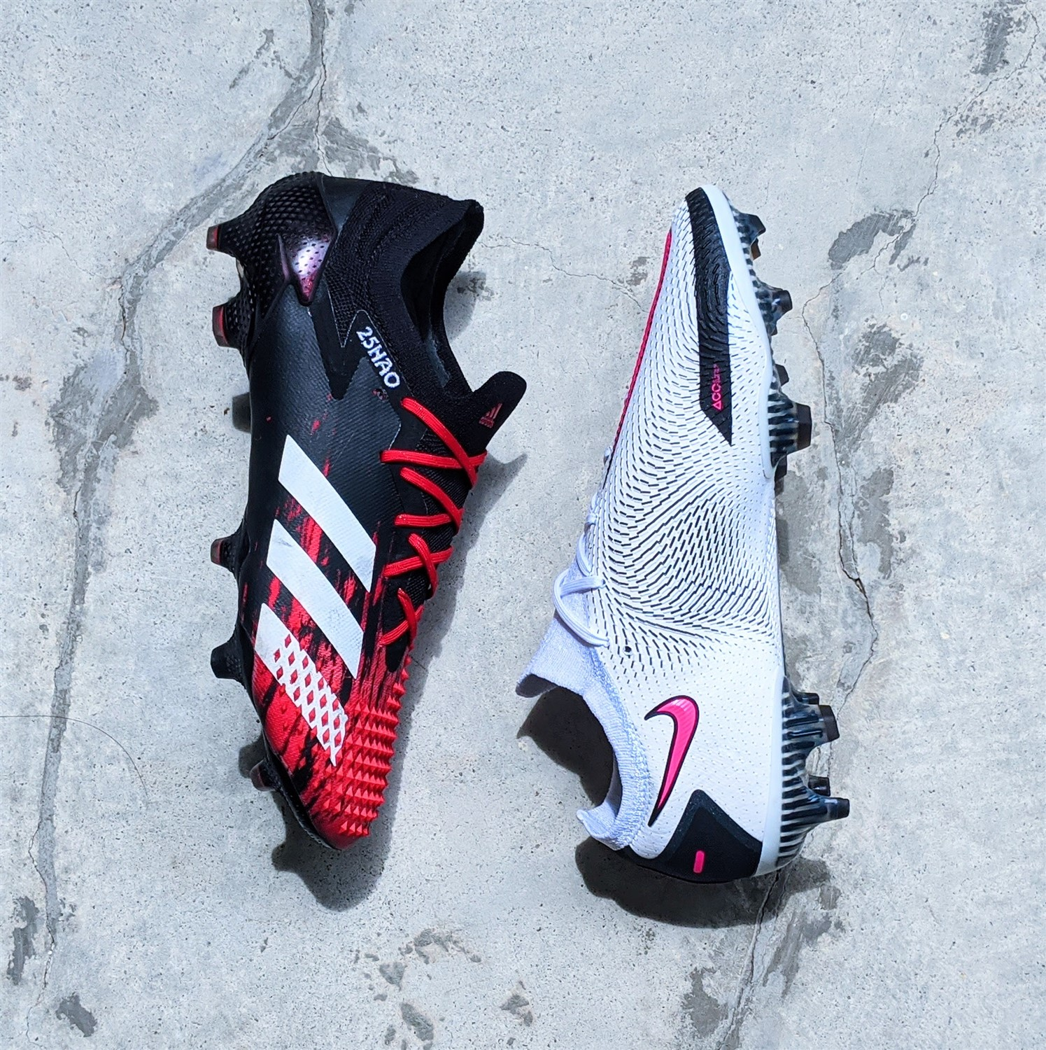 nike and adidas boots