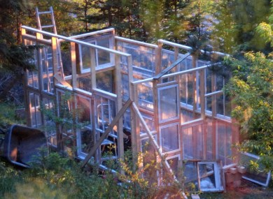 sunset greenhouse