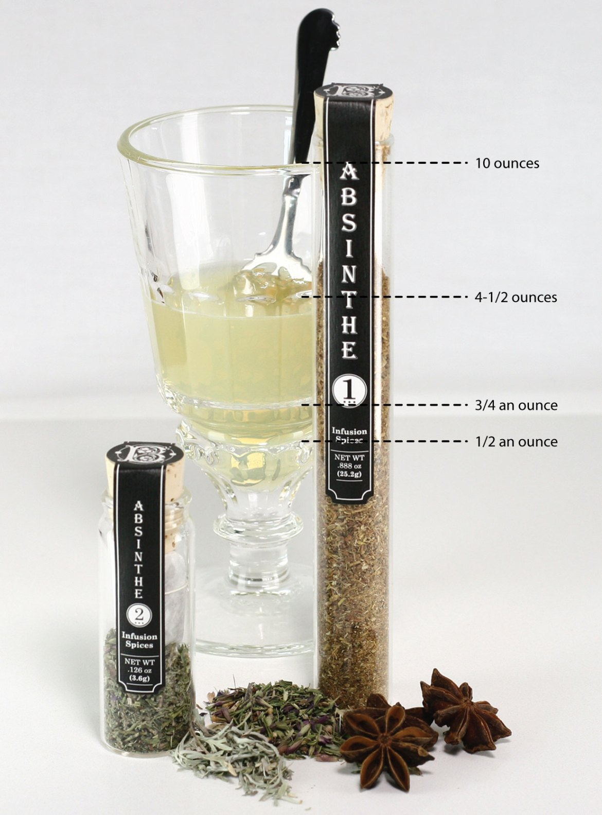 La Rochere Absinth Glass Measurments