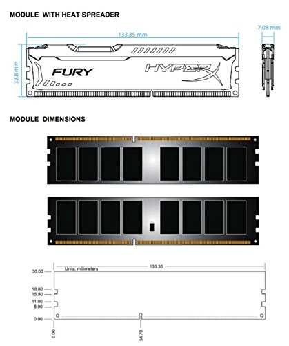 Kingston HyperX FURY 16GB Kit (2x8GB) 1600MHz DDR3 CL10 DIMM - tech specs