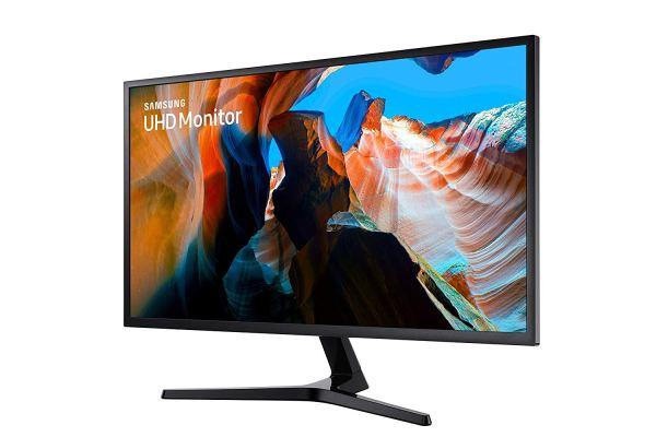 Samsung U32J590 4K Monitor 32-inch UHD LED-Lit side