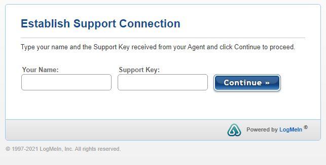 Establish Support Connection