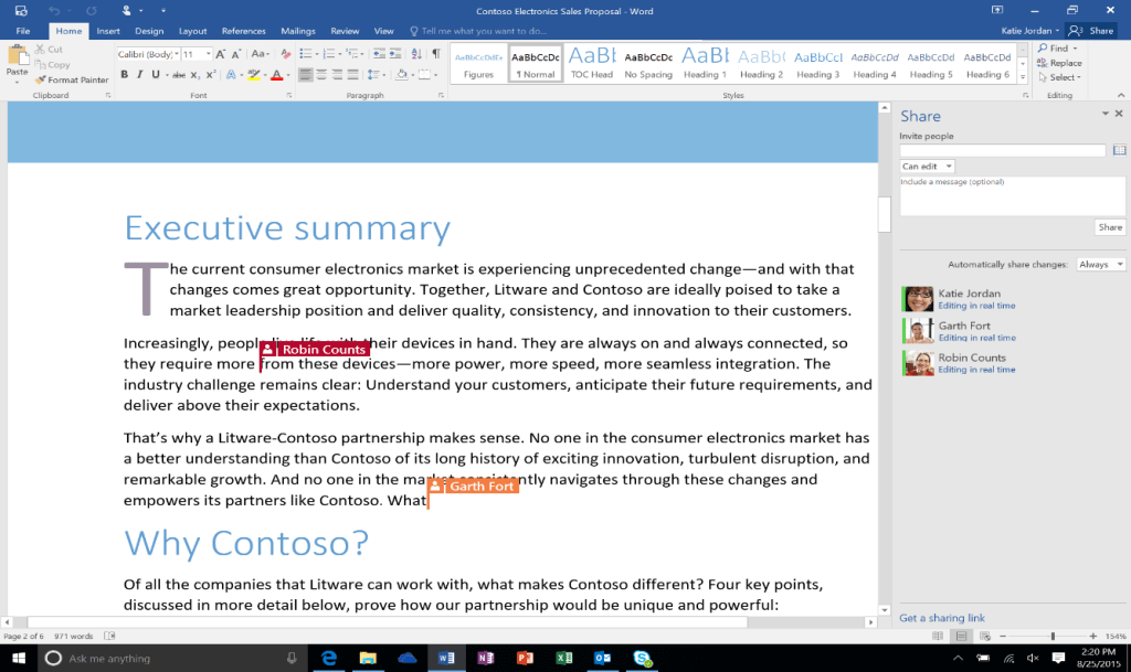 Office 365: Microsoft Word Co-Authoring