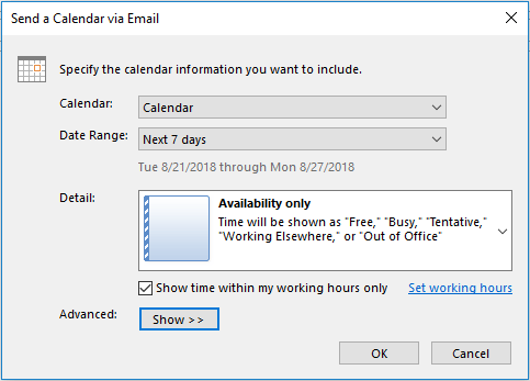send availability outlook 365 - office 365 tips and tricks