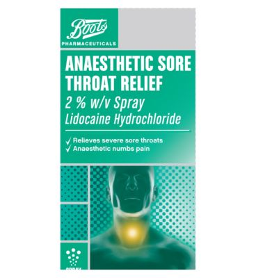 Boots Lidocaine Hydrochloride Anaesthetic Sore Throat ...