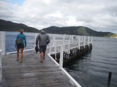 Walking down to catch the water taxi back to Punga. Possibly my favorite picture of Lindsay and I