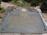 The plaque at the Amicalola Visitor's Center
