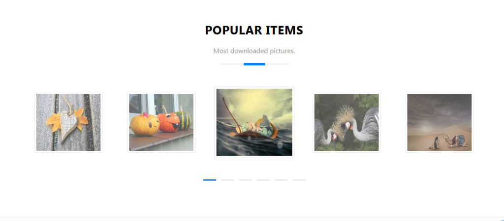 section carrousel de photofan thème bootstrap polyvalent gratuit
