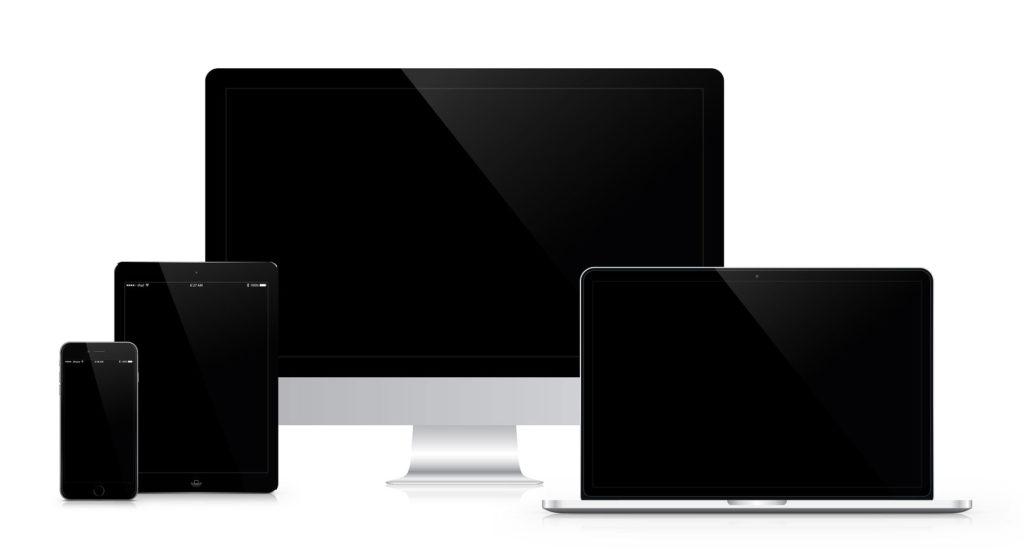 comportement d'une grille bootstrap en fonction des types d'écran