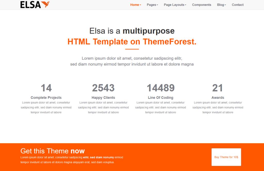thème gratuit responsive html5/css3 pour site polyvalent