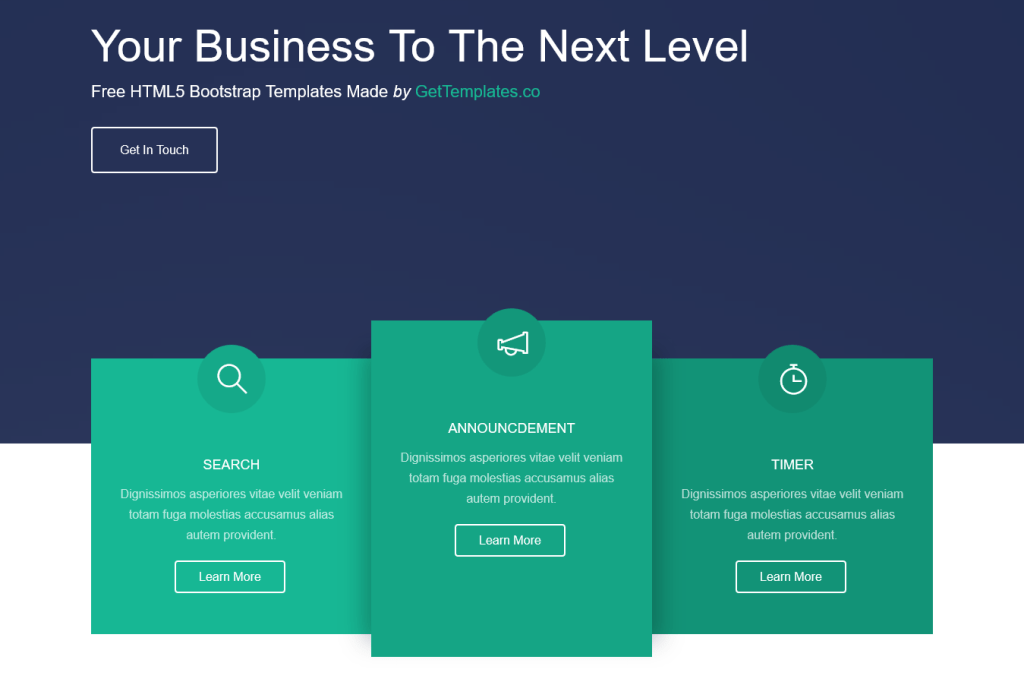 thème gratuit responsive html5/css3 pour site d'entreprise