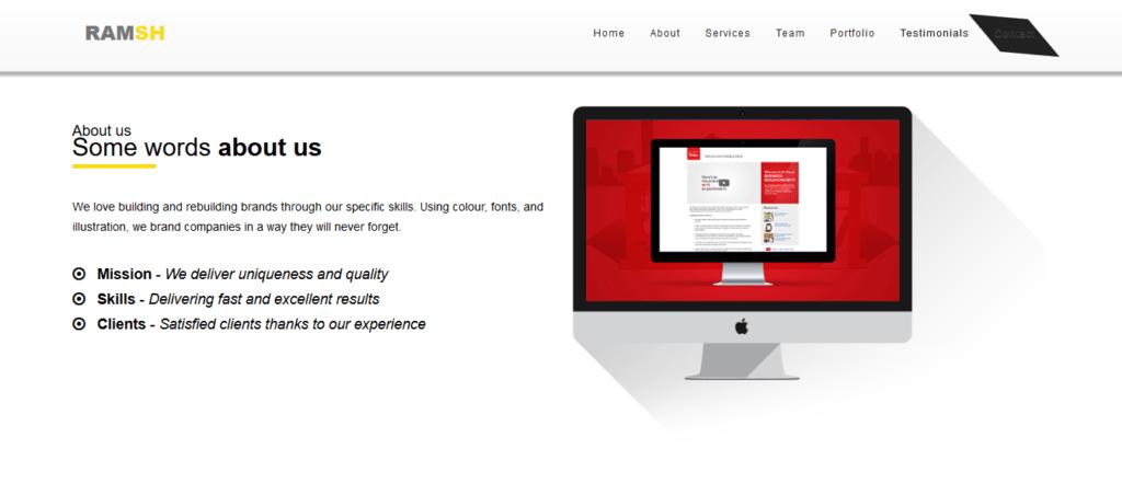 thème gratuit responsive html5/css3 pour site simple