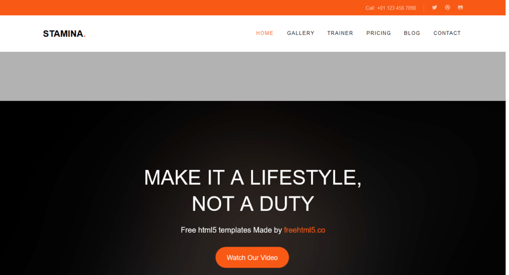 thème gratuit responsive html5/css3 pour site général