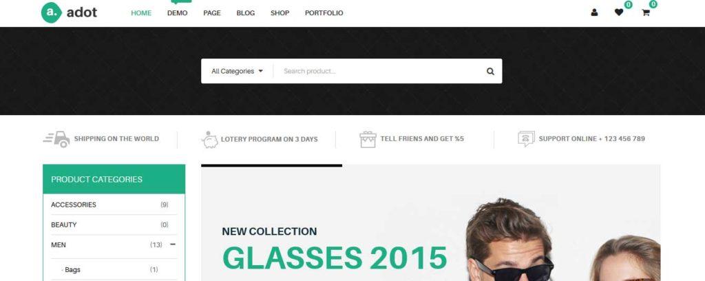 adot: meilleurs thèmes pour site d'ecommerce