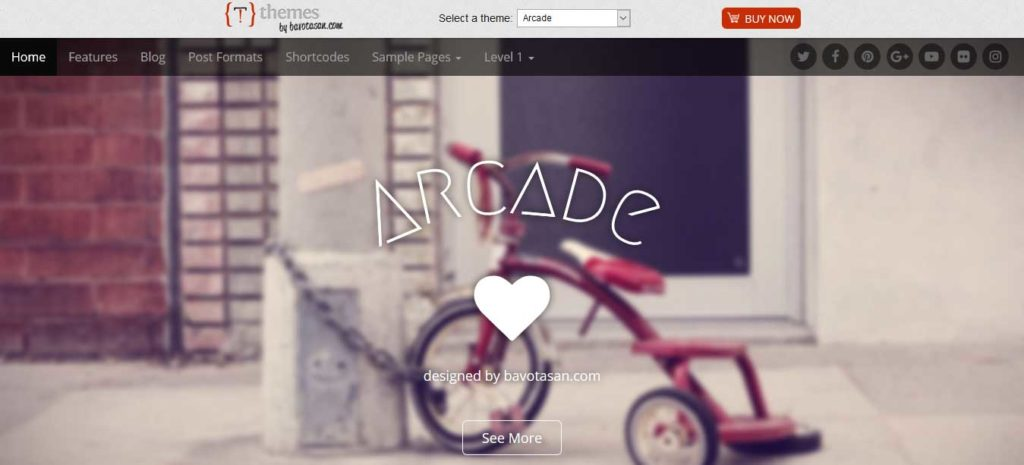 arcade : Thème wordpress gratuit responsive pour site d'entreprise