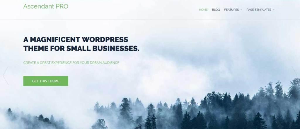 ascendant : Thème wordpress gratuit responsive pour site d'entreprise