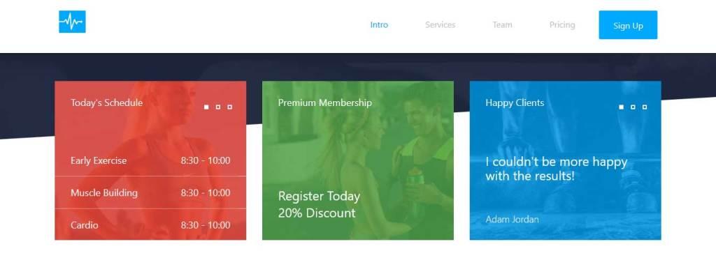cardio : thèmes gratuits Bootstrap pour site moderne