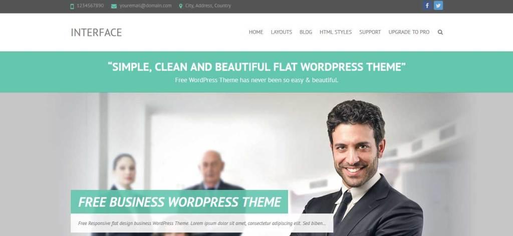 Interface : Thème wordpress gratuit responsive pour site d'entreprise