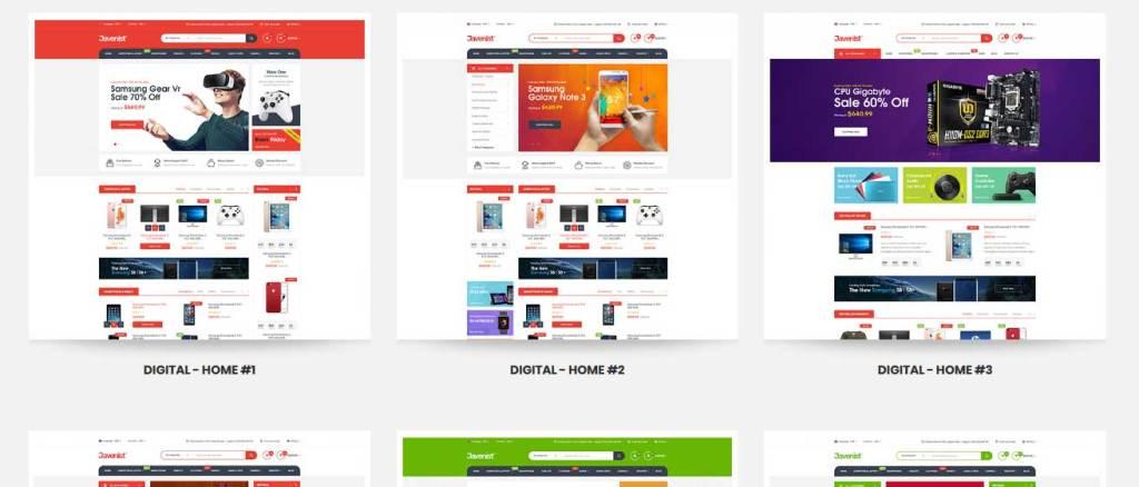 javenist: meilleurs thèmes pour site d'ecommerce