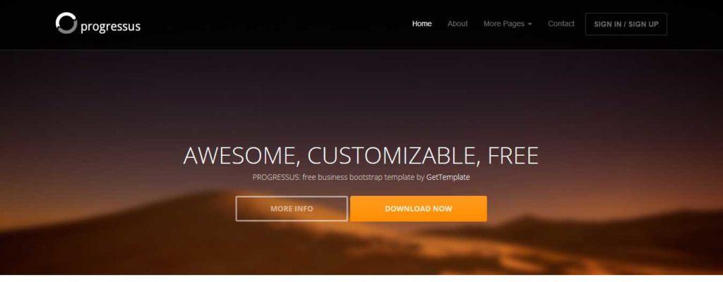 progresssus : thèmes gratuits Bootstrap pour site moderne