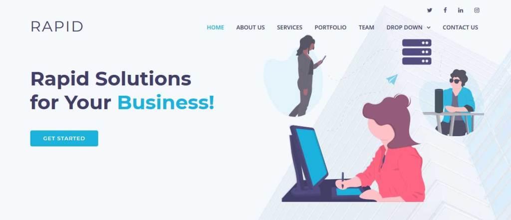 Rapid : thèmes gratuits Bootstrap pour site moderne