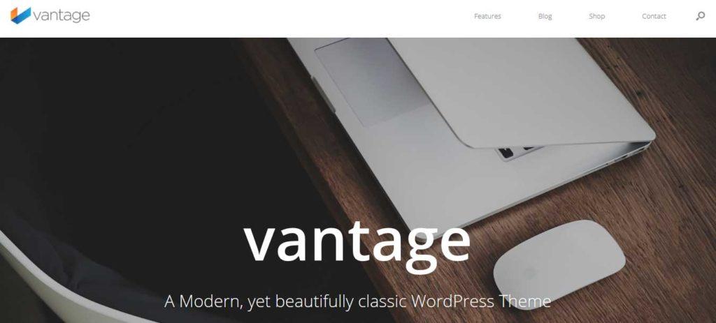 vantage : Thème wordpress gratuit responsive pour site d'entreprise