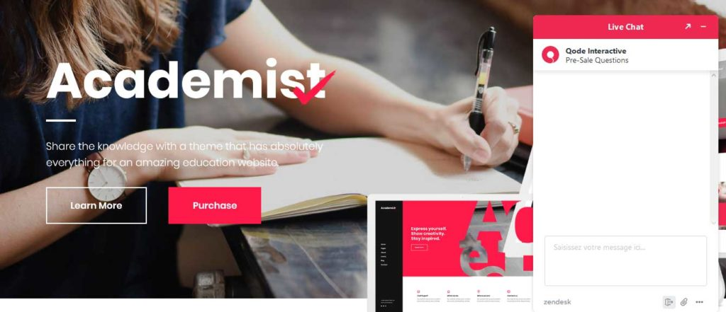 Academist: thèmes wordpress premiums pour site d'éducation