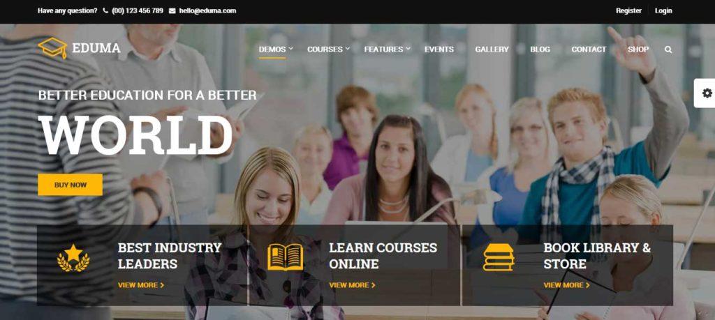 Eduma: thèmes wordpress premiums pour site d'éducation