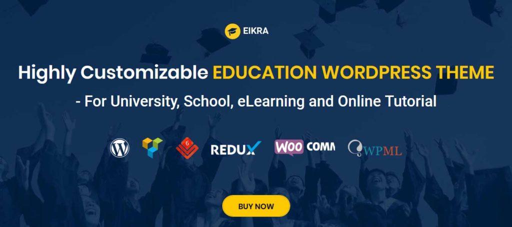 Eikra: thèmes wordpress premiums pour site d'éducation